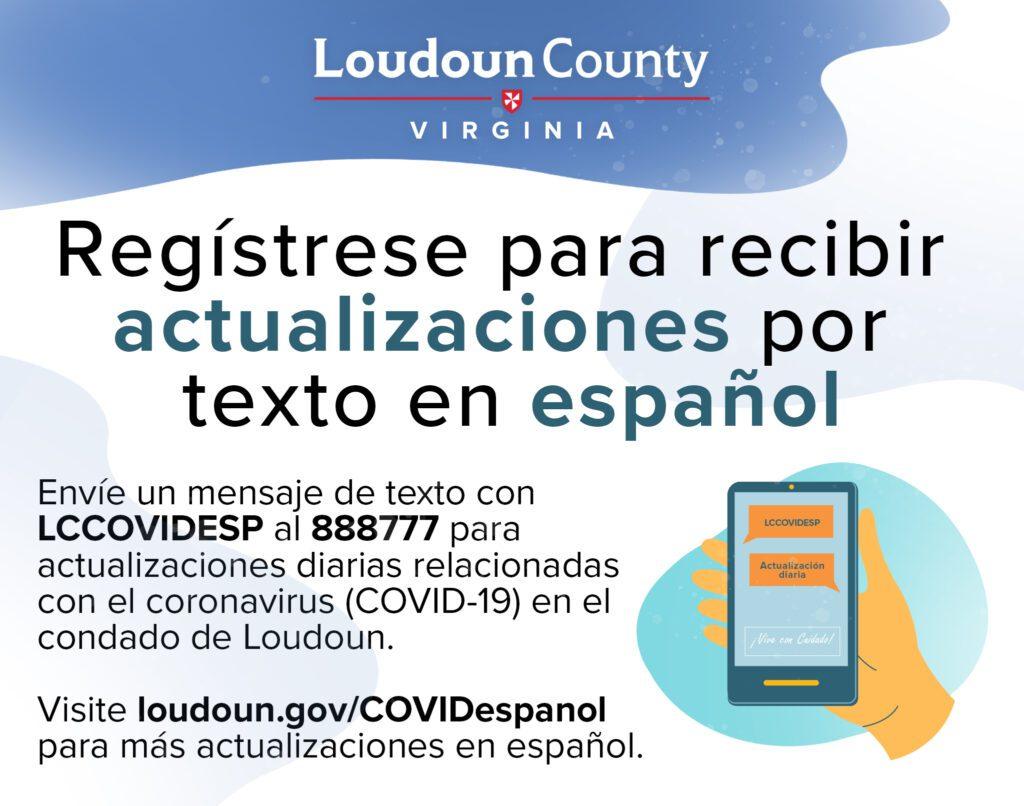 Regístrese para recibir actualizaciones por texto en español